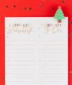 Weihnachtswunschliste zum ausdrucken