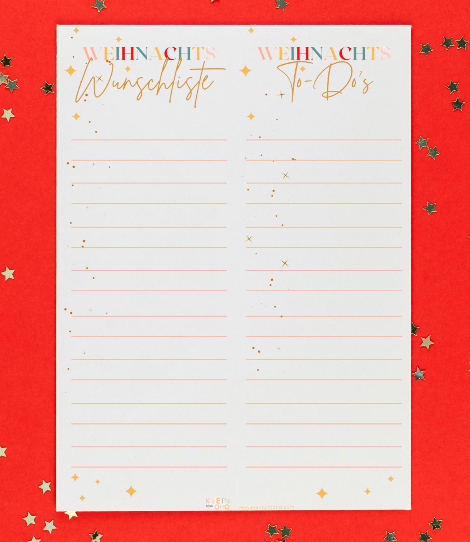 Alles im Blick mit dem kleinundoho Weihnachtsprintable Für den PDF Download einfach aufs Bild klicken.